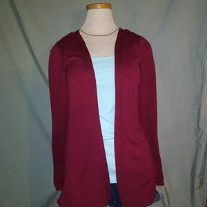 Maurices Light Sweater. Size Medium. Cranberry.